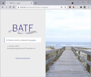 Screenshot Profilpflege BATF